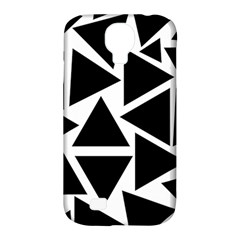 Template Black Triangle Samsung Galaxy S4 Classic Hardshell Case (pc+silicone)