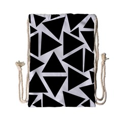 Template Black Triangle Drawstring Bag (small)