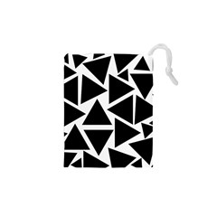 Template Black Triangle Drawstring Pouches (xs)