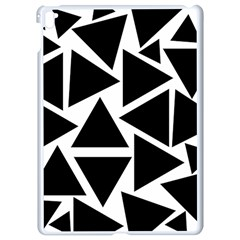 Template Black Triangle Apple Ipad Pro 9 7   White Seamless Case