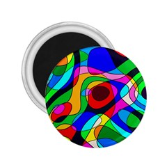 Digital Multicolor Colorful Curves 2 25  Magnets