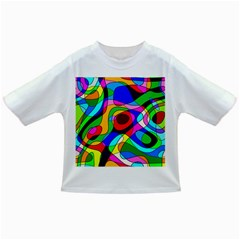 Digital Multicolor Colorful Curves Infant/toddler T Shirts