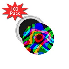 Digital Multicolor Colorful Curves 1 75  Magnets (100 Pack)
