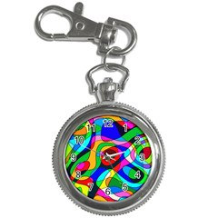 Digital Multicolor Colorful Curves Key Chain Watches