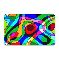 Digital Multicolor Colorful Curves Magnet (rectangular)