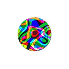 Digital Multicolor Colorful Curves Golf Ball Marker (4 Pack)