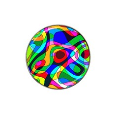 Digital Multicolor Colorful Curves Hat Clip Ball Marker (4 Pack)