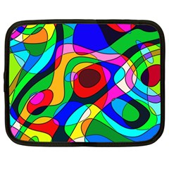Digital Multicolor Colorful Curves Netbook Case (xxl)