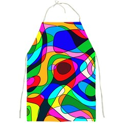 Digital Multicolor Colorful Curves Full Print Aprons