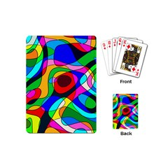 Digital Multicolor Colorful Curves Playing Cards (mini)