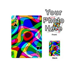 Digital Multicolor Colorful Curves Playing Cards 54 (mini)