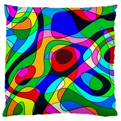 Digital Multicolor Colorful Curves Large Cushion Case (two Sides)