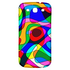 Digital Multicolor Colorful Curves Samsung Galaxy S3 S Iii Classic Hardshell Back Case