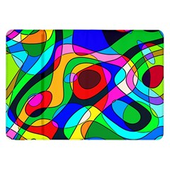 Digital Multicolor Colorful Curves Samsung Galaxy Tab 8 9  P7300 Flip Case