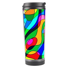 Digital Multicolor Colorful Curves Travel Tumbler