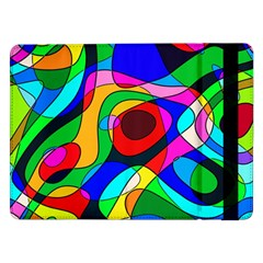 Digital Multicolor Colorful Curves Samsung Galaxy Tab Pro 12 2  Flip Case