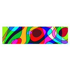 Digital Multicolor Colorful Curves Satin Scarf (oblong)