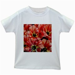 Tulips Flowers Spring Kids White T Shirts
