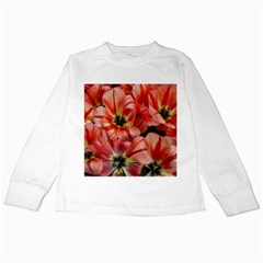 Tulips Flowers Spring Kids Long Sleeve T Shirts