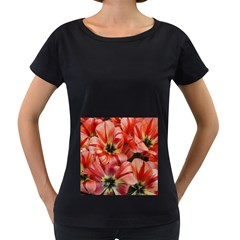 Tulips Flowers Spring Women s Loose Fit T Shirt (black)