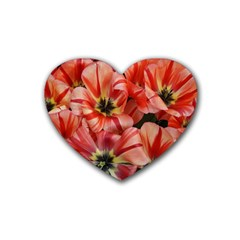 Tulips Flowers Spring Heart Coaster (4 Pack)
