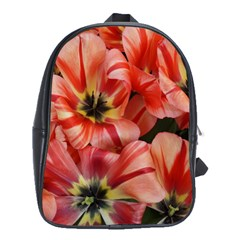 Tulips Flowers Spring School Bag (large)