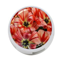 Tulips Flowers Spring 4 Port Usb Hub (one Side)