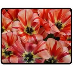 Tulips Flowers Spring Fleece Blanket (medium)