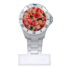 Tulips Flowers Spring Plastic Nurses Watch