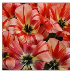 Tulips Flowers Spring Large Satin Scarf (square)