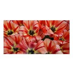 Tulips Flowers Spring Satin Shawl