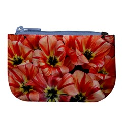 Tulips Flowers Spring Large Coin Purse