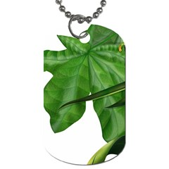 Plant Berry Leaves Green Flower Dog Tag (one Side)