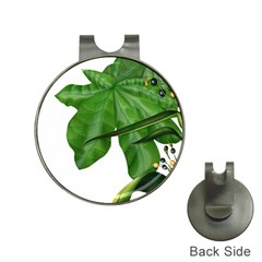 Plant Berry Leaves Green Flower Hat Clips With Golf Markers