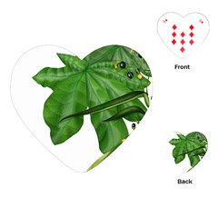 Plant Berry Leaves Green Flower Playing Cards (heart)