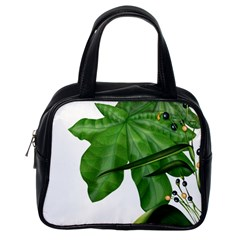 Plant Berry Leaves Green Flower Classic Handbags (one Side)