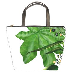 Plant Berry Leaves Green Flower Bucket Bags