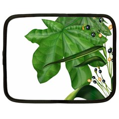 Plant Berry Leaves Green Flower Netbook Case (xl)