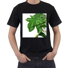 Plant Berry Leaves Green Flower Men s T Shirt (black)