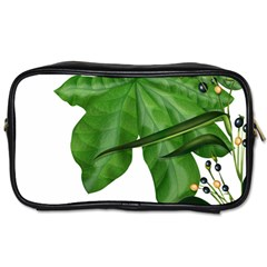 Plant Berry Leaves Green Flower Toiletries Bags 2 Side