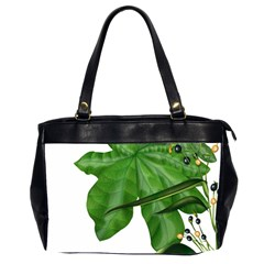 Plant Berry Leaves Green Flower Office Handbags (2 Sides)