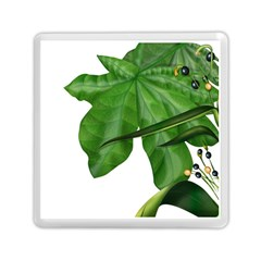 Plant Berry Leaves Green Flower Memory Card Reader (square)