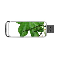 Plant Berry Leaves Green Flower Portable Usb Flash (two Sides)