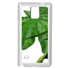 Plant Berry Leaves Green Flower Samsung Galaxy Note 4 Case (white)