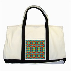 Pop Art Abstract Design Pattern Two Tone Tote Bag