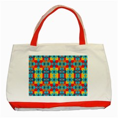 Pop Art Abstract Design Pattern Classic Tote Bag (red)
