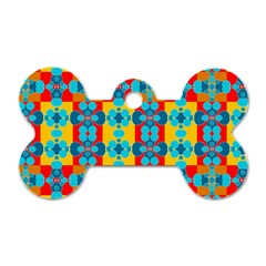 Pop Art Abstract Design Pattern Dog Tag Bone (two Sides)