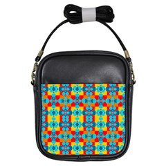 Pop Art Abstract Design Pattern Girls Sling Bags