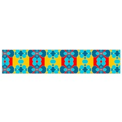 Pop Art Abstract Design Pattern Small Flano Scarf
