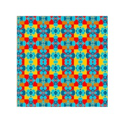 Pop Art Abstract Design Pattern Small Satin Scarf (square)